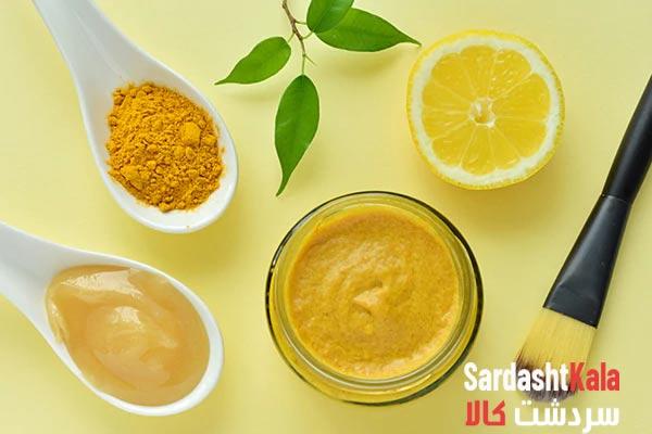ماسک عسل و زردچوبه و لیمو